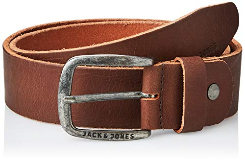 JACK & JONES JJIPAUL JJLEATHER BELT NOOS, Cinturón Hombre, Marrón (Black Coffee), 90 cm (Talla del fabricante: 90)