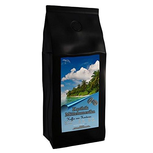 Kaffeespezialität Aus Mittelamerika Honduras Kaffee - Eine Spezialität der Karibik (1000 Gramm, Ganze Bohne) - Länderkaffee - Spitzenkaffee - Säurearm - Schonend Und Frisch Geröstet