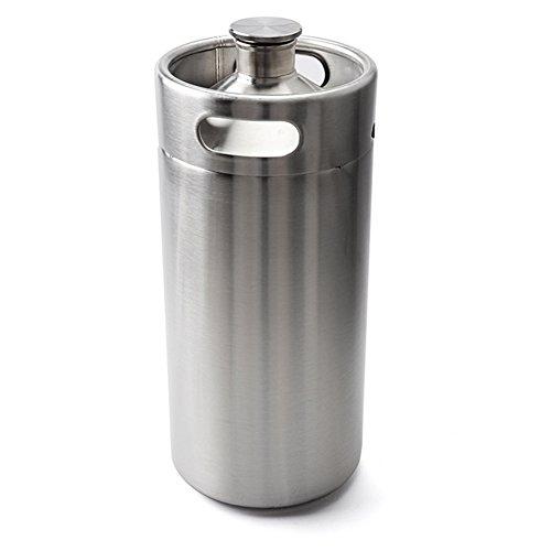 3,6L de cerveza de Ouncer Mini Keg acero inoxidableCerveza barril sostiene doble asas de cerveza para fácil de atrapar