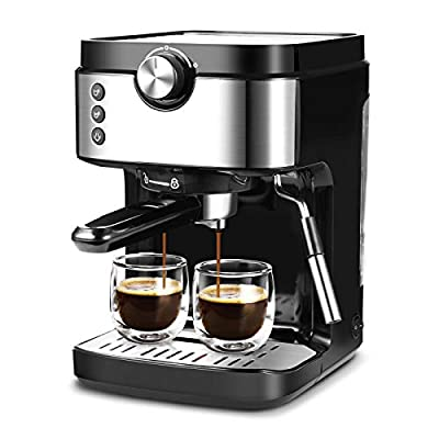 Espresso Machine 20 Bar Coffee Machine With Foaming Milk Frother Wand, 1300W High Performance No-Leaking 903ml Removable Water Tank Coffee Maker For Espresso, Cappuccino, Latte, Machiato, For Home Barista