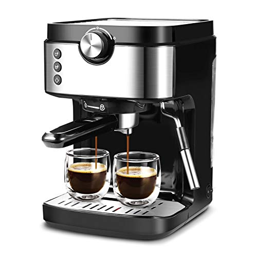 Espresso Machine Coffee Machine 20 Bar With Foaming Milk Frother Wand, 1300W High Performance No-Leaking 903ml Removable Water Tank Coffee Maker For Espresso, Cappuccino, Latte, Machiato, For Home Barista
