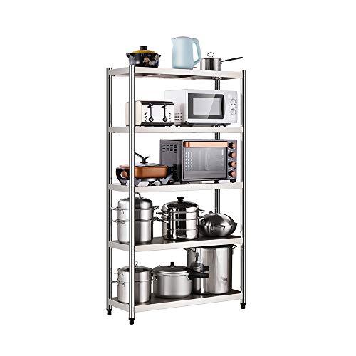 XAOPN Rack De Almacenamiento Estante De Cocina De 5 Capas Soporte De Exhibición De Rack De Almacenamiento De Microondas (Size : 60x40x180cm)