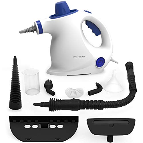 Comforday Steam Cleaner- Multi Purpose Cleaners Carpet High Pressure Chemical Free Steamer with 9-Piece Accessories, Perfect for Stain Removal, Curtains, Car Seats,Floor,Window Cleaning