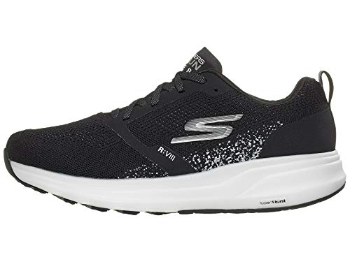 Skechers Go Run Ride 8 Hyper Running Shoe, Black/White - 9 M US
