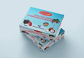 Starlight Coconut Shell Charcoal Cubes Box of 72 Pieces 100% Natural Charcoal