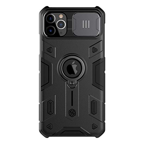 Nillkin iPhone 11 Pro Max Case Slide Camera Protection Case for iPhone 11 Pro Max Cover Ring Stand Holder (Black)