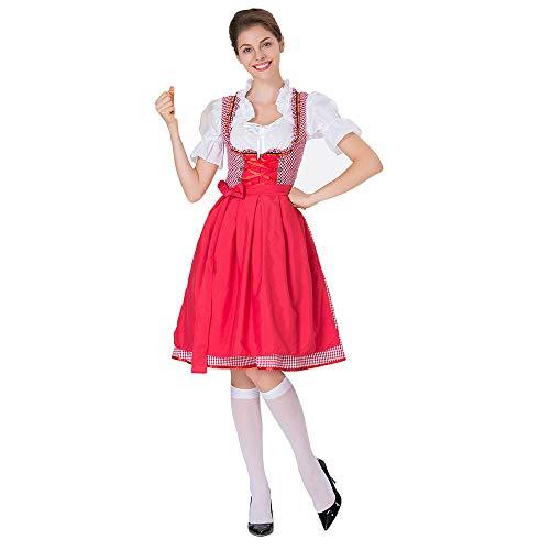 Damen Dirndl Set DOLDOA Mini Maid Kleid Trachtenkleid Tavern für Oktoberfest