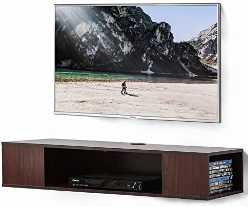 FITUEYES Floating TV Stand Wall Mounted Media Console 2 Tiers Entertainment Av Shelf DS210005WW product image