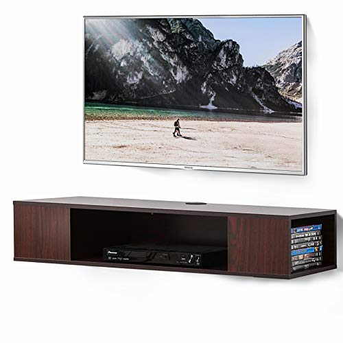 FITUEYES Floating TV Stand Wall Mounted Media Console 2 Tiers Entertainment Av Shelf DS210005WW