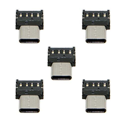 CY 5pcs Ultra Mini Tipo-C USB-C a USB 2.0 OTG Adaptador para...