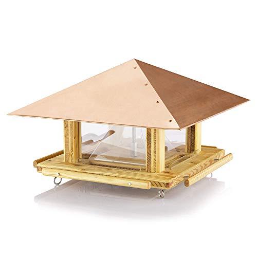 Luxus-Vogelhaus Vogelhaus mit Futterspender Vogelhaus mit Silo Vogelfütterung