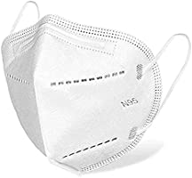 DALUCI N95 Cotton Reuseable Face Mask (White, Without Valve, Pack of 10) for Men & Women