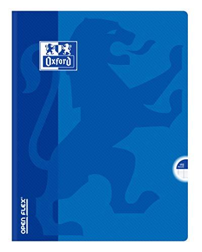 OXFORD Cahier OpenFlex 24x32cm Grands Carreaux Seyès 192 Pages Brochées Couverture Polypro Couleur Aléatoire