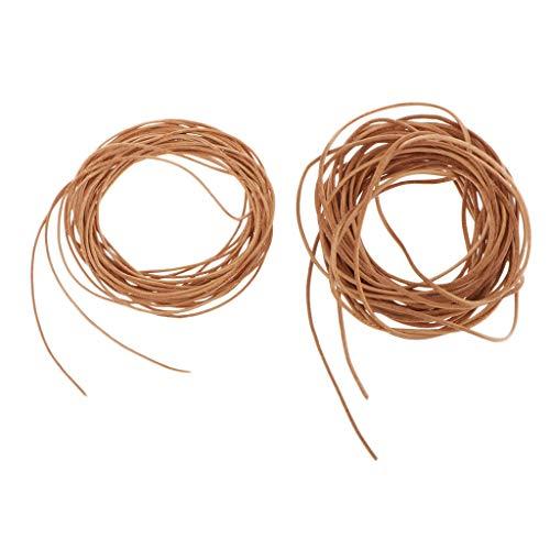 F Fityle 5 Metros de Cuerda de Cuero de La Correa de La Joyería Que Hace Las Pulseras del Hilo Gargantilla DIY - 1 mm