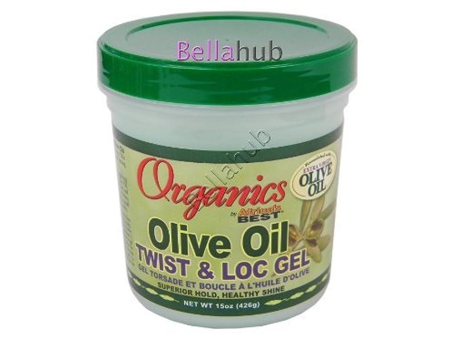 Africas Best Orig Olive Oil Gel Twist & Lock 15 Ounce Jar (443ml)