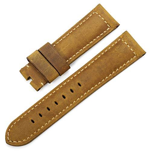 iStrap 24mm ricambio Watch Band vera pelle di vitello Tracolla In Pelle...