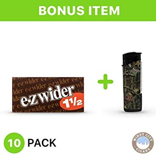 EZ Wider Rolling Paper - 1 1/2 (10) with Free LED Lighter