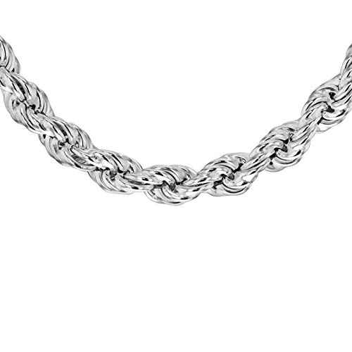 Tuscany Silver Women's Sterling Silver 4.2 mm Rope Chain Necklace of Length 46 cm/18 Inch