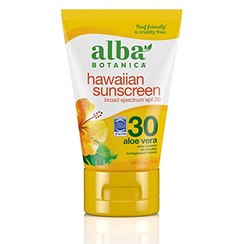 Alba Botanica Hawaiian Sunscreen Lotion, SPF 30, Aloe Vera, 4 Oz