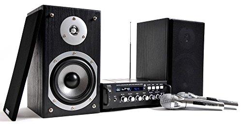 Musikanlage Karaoke Party Lautsprecher Verstärker Amplifier Endstufe Boxen Mikrofone LTC Set Karaoke-Star 4