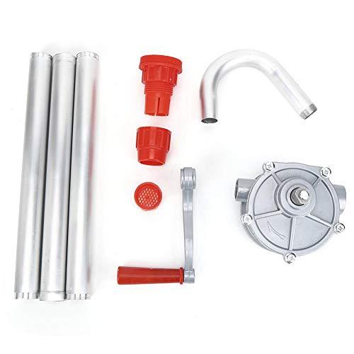 Yctze Extractor de aceite manual, extractor de aceite manual de aleación de aluminio de 220 V, bomba manual de combustible de gas, dispensador autocebante de 25 mm/1 pulgada