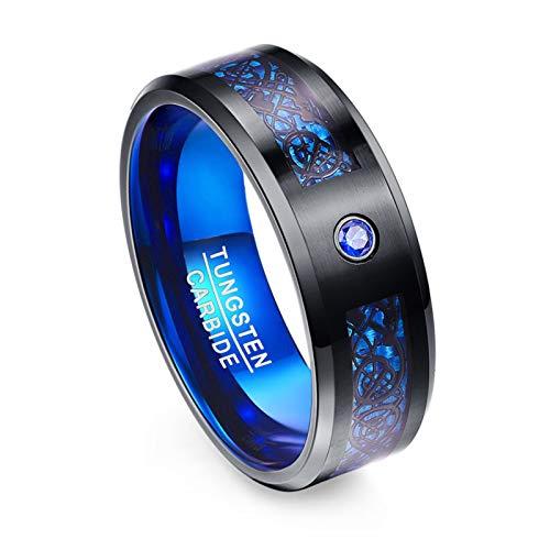 BestSiller Anillos de diseño de dragones elementales puros, anillo de acabado pulido, para hombres