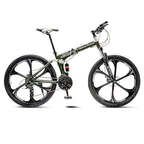 TOOLS Mountainbikes Rennrad Rennräder Mountainbike Rennrad Folding Männer MTB Fahrrad 21 Geschwindigkeit 24/26 Zoll-Räder for Erwachsene Frauen (Color : Green, Size : 26in)