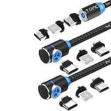 TOPK Magnetisches USB Kabel [3Stück] 3in1 Ladekabel mit