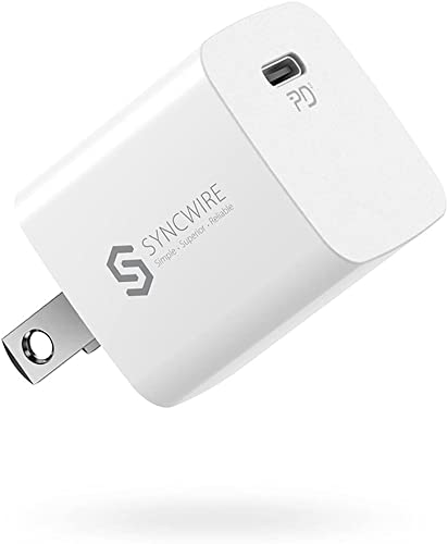 new arrival Syncwire 20W USB C Charger, Ultra Compact PD 3.0 Fast Charger lowest Block USB C Wall Charger Type-C Power Delivery USB-C Power Adapter Compatible for iPhone 13 Mini 12 2021 Pro Max 11 XR X 8 Plus,iPad Pro,Galaxy outlet sale