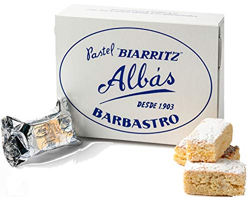PASTEL BIARRITZ ALBAS - CLASICO 12 pasteles individuales sin gluten, sin lactosa, sin aditivos, sin conservantes, 100 % natural, 100% artesanal, tradicional, producido en España