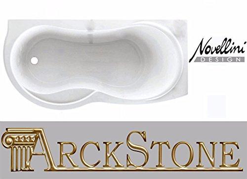 Du Venus Standard eingebaut 180x80H55cm Bauform rechts DX Möbel Badewanne Badezimmer Waschküche Eck eckig Asymmetrische Kurve Rund Halbrund wirtschaftliche Schale Traditionelle Acryl weiß glänzend