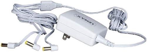 Lemax 94563 Switching Mode 3-Output Power Adapter, New 2019 Fixed US Plug V.2, White, 4.5V, 1000mA, Input 100-240V, U...