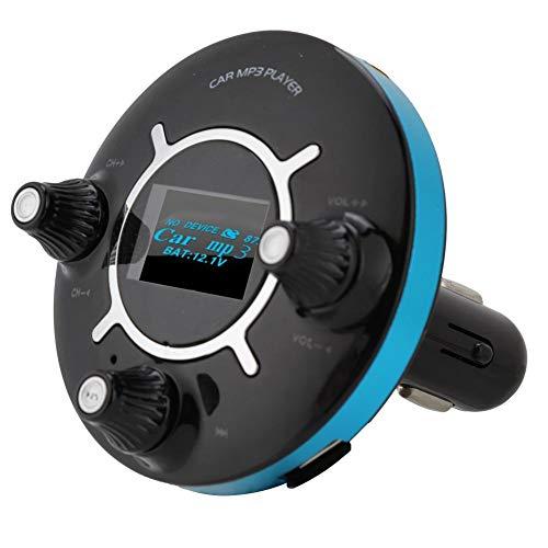ASHATA Bluetooth auto FM-zender Audio-adapter, Auto-zender Bluetooth MP3-speler Handsfree bellen Kit Dubbele USB-oplader, Ondersteuning voor digitale en digitale frequentieselectie op afstand