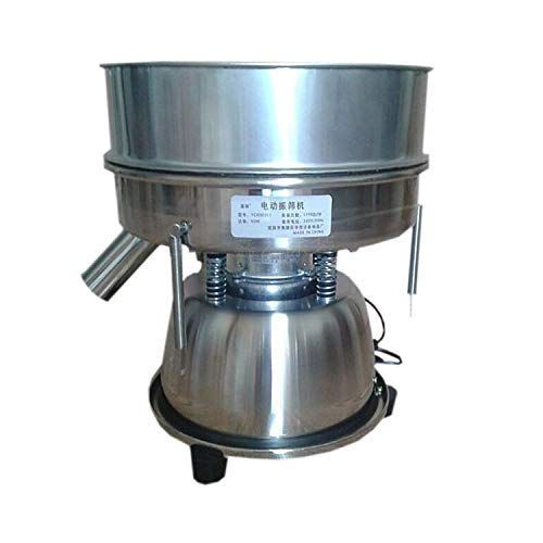 Electric Automatic Sieve Shaker Vibrating Sieve Machine Food Industrial Stainless Steel Sifter for Granule Powder Grain (80 Mesh 0.2mm)