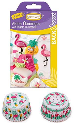Backset Flamingo | Flamingo Zuckerdekor | Flamingo Muffinförmchen | Aloha| Flamingo Muffins