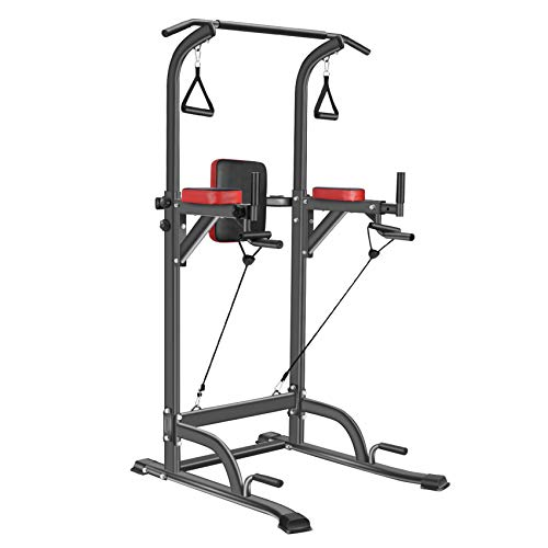 Bronze Times Power Tower Workout Dip Station Pull Up Bar Dip Stands Adjustable Height for Home Gym Strength Training Fitness Equipment 2021 Upgraded, 400LBS Missouri