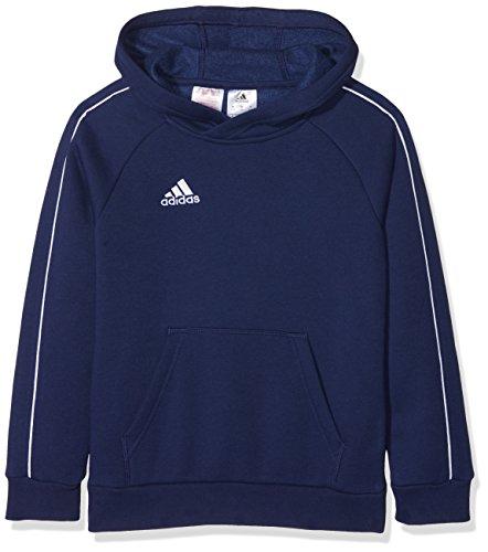 adidas Core 18 Hoody Sweat-shirt à capuche Garçon, Bleu (Dark Blue/White), 11-12A (Taille fabricant:152 )