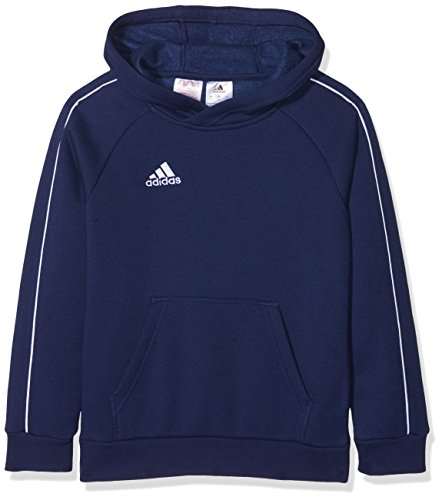 adidas Kinder Core 18 Hoodie, Blau (Dark Blue/White), 164