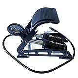 Fußpumpe mit Doppelzylinder - Fußluftpumpe für Alle Ventile - Leistungsstarke Luftpumpe mit...