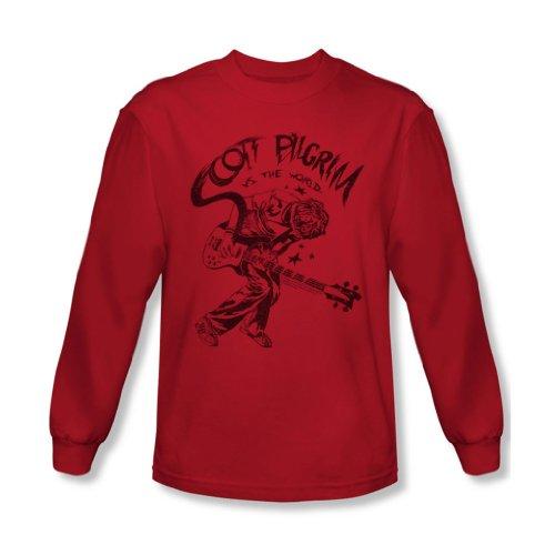 Scott Pilgrim - - T-shirt manches longues Homme Rockin, Large, Red