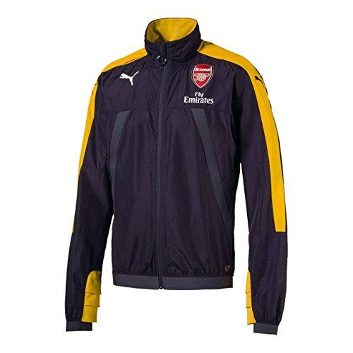 Puma - Chaqueta de entrenamiento para hombre, diseño del Arsenal, color negro y amarillo, color gris, tamaño Small