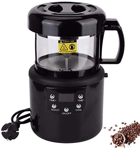 sjdxd 1400W Kaffeebohne Röster Elektrische Kaffeebohnen Röstmaschine Haushaltsbackenmaschine Kaffeebohnen Röstmaschine mit Kühlfunktion Hand Kaffeeschleifer
