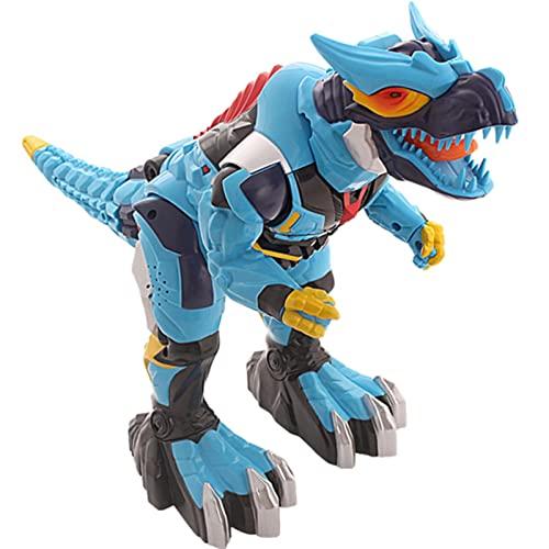 ELKeyko RC Dinosaurio Electric Deform Robot Robot Control Remoto Dino Tyrannosaurus Rex Roar Música Ojos Brillo Niños Mascotas Juguetes Niños Regalos