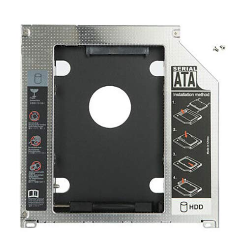 YuYue HDD SSD SATA Hard Drive Caddy Optibay Replacement Compatible With Macbook Pro Unibody 2nd 9.5mm