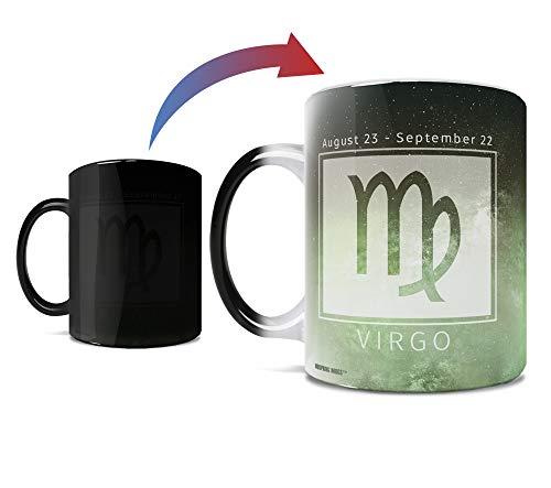 Birthday Zodiac Sign - Virgo - Morphing Mugs Heat Sensitive Mug – Image revealed when HOT liquid is added - One 11oz Ceramic Mug