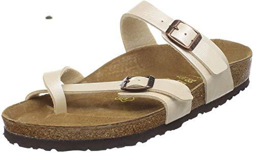 Birkenstock Womens Mayari Graceful Pearl White Birko-Flor Sandals 39 EU
