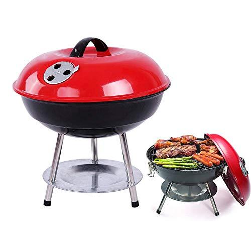 Tragbarer Holzkohlegrill,Holzkohlegrill Grill Grill Abnehmbarer tragbarer Edelstahl-Grill Grill Mini-Grill Grill Grill für das Kochen im Freien Camping