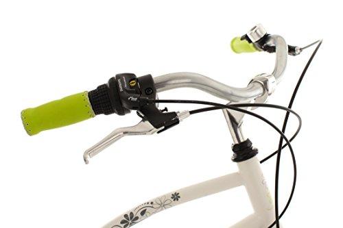 "KS Cycling Beachcruiser 26"" Bellefleur weiß-grün RH40cm - 5"
