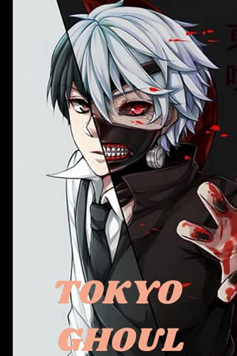 """TOKYO GHOUL: KANEKI NOTEBOOK ● TOKYO GHOUL ● 120 LINED PAGES, 6"""" x 9""""●"""