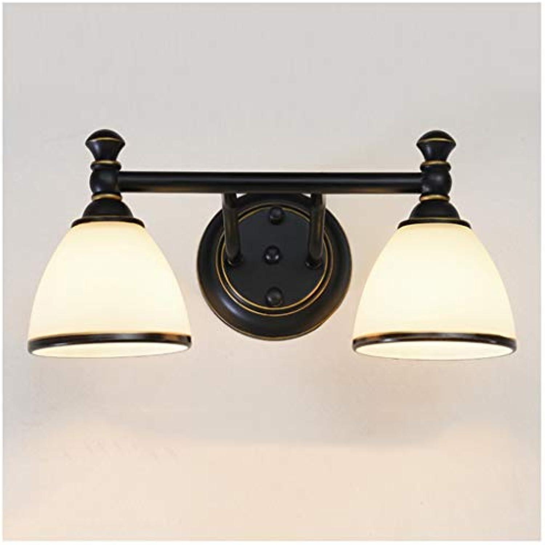 GAODUZI LED Spiegel Scheinwerfer Badezimmer Badezimmerspiegel Licht Kreative Retro Make-Up Lampe Spiegel Kabinett Licht Wandleuchte E14 (gre   35cm)